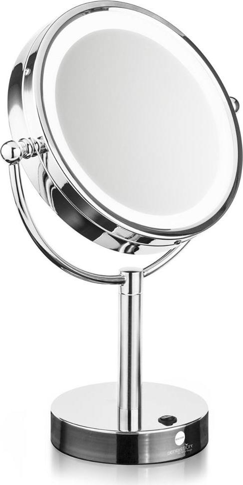 Macom specchio luminoso da tavolo rotante con luce led for Specchio da tavolo con luce ikea