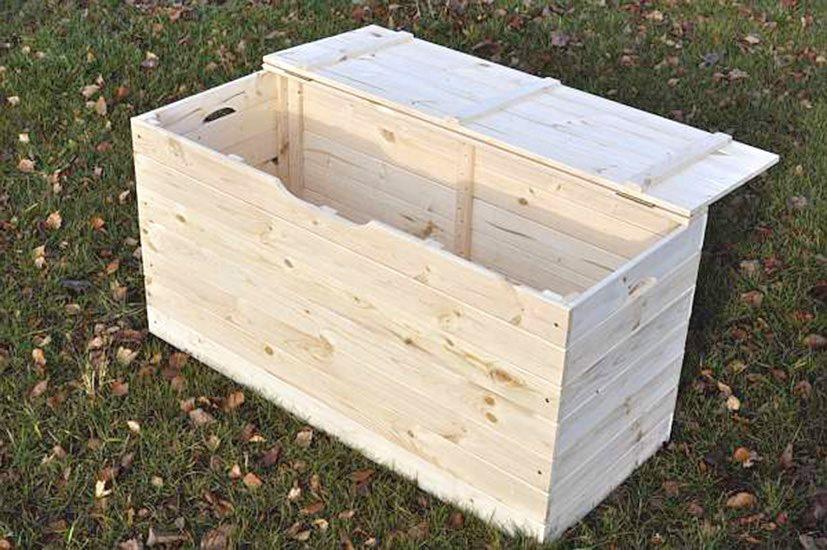 Cassapanche in legno da esterno in offerta prezzoforte for Baule plastica brico