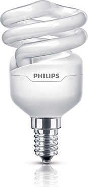 Philips lampadina basso consumo tornado spiral fredda e14 for Lampadine basso consumo philips