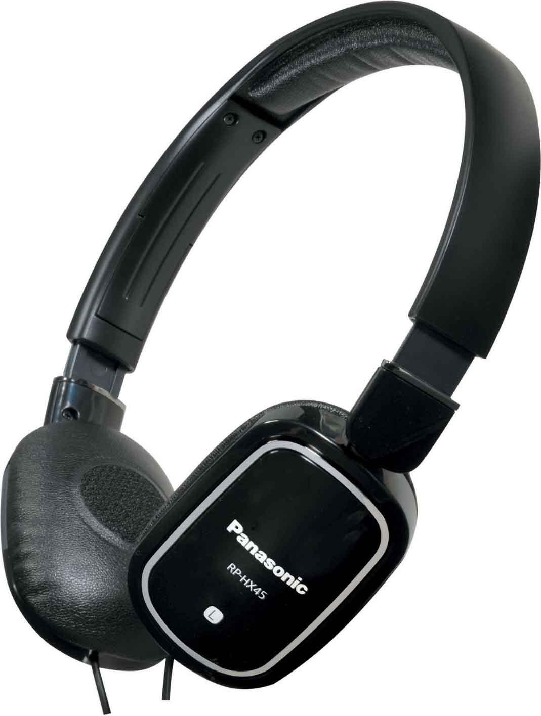 Panasonic cuffie stereo ad archetto colore nero rp hx45e for Panasonic cuffie