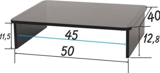 Prandini mobile porta tv supporto per televisori - Porta televisore in vetro ...