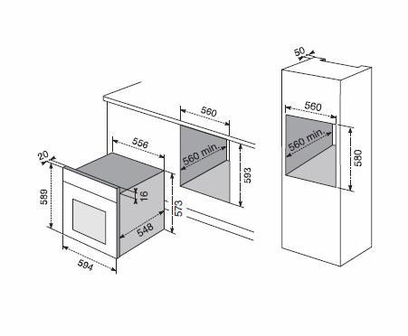 Forno electrolux f 53 n infispace serie flat forno da - Forno elettrico ventilato da incasso ...