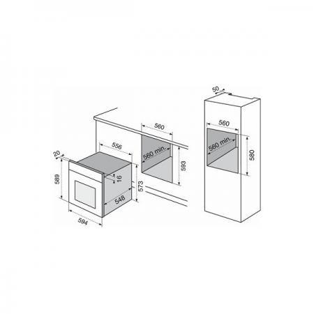 Forno electrolux f 53 x infispace serie flat forno da - Forno elettrico ventilato da incasso ...