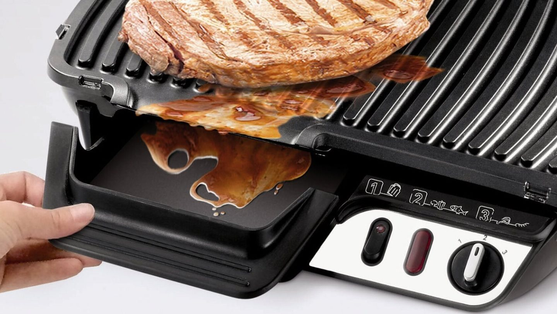 Rowenta bistecchiera elettrica doppia piastra antiaderente for Bistecchiera elettrica