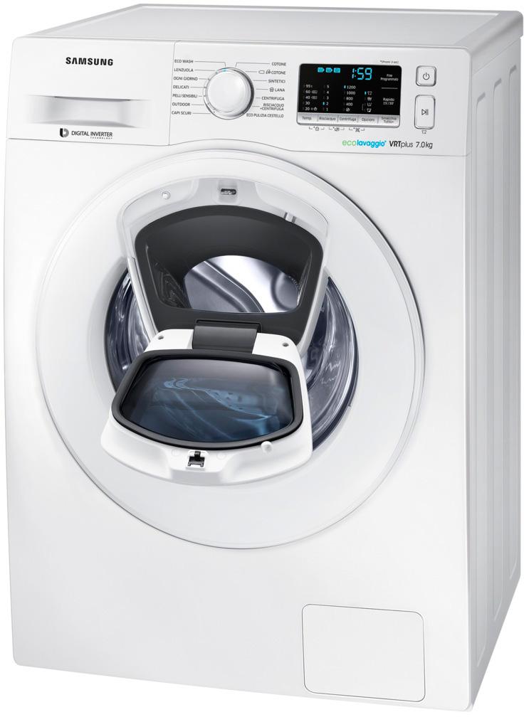 Lavatrice samsung 7 kg 1200 giri slim doppio oblo - Profondita lavatrice ...