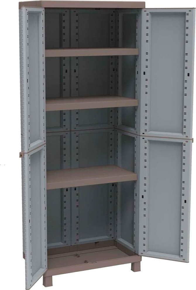 Terry armadio da esterno in resina 2 ante 3 ripiani for Armadio per esterno 90 cm