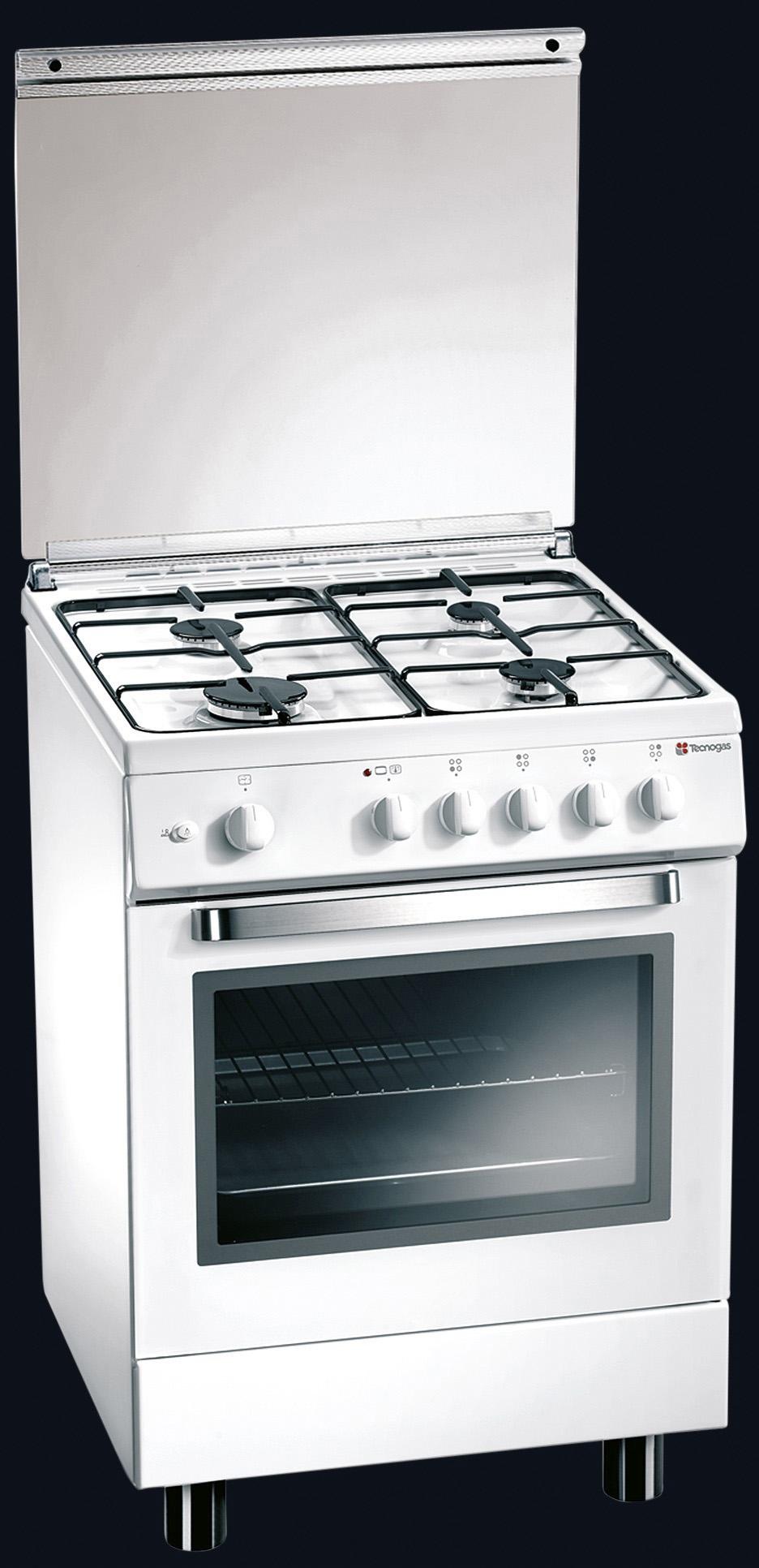 Tecnogas cucina a gas 4 fuochi forno elettrico multifunzione ventilato con grill larghezza x - Cucina con forno ventilato ...