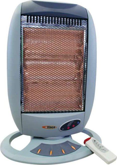 Vinco stufa elettrica alogena a basso consumo potenza max 1200 watt oscillante con telecomando - Stufa alogena basso consumo ...