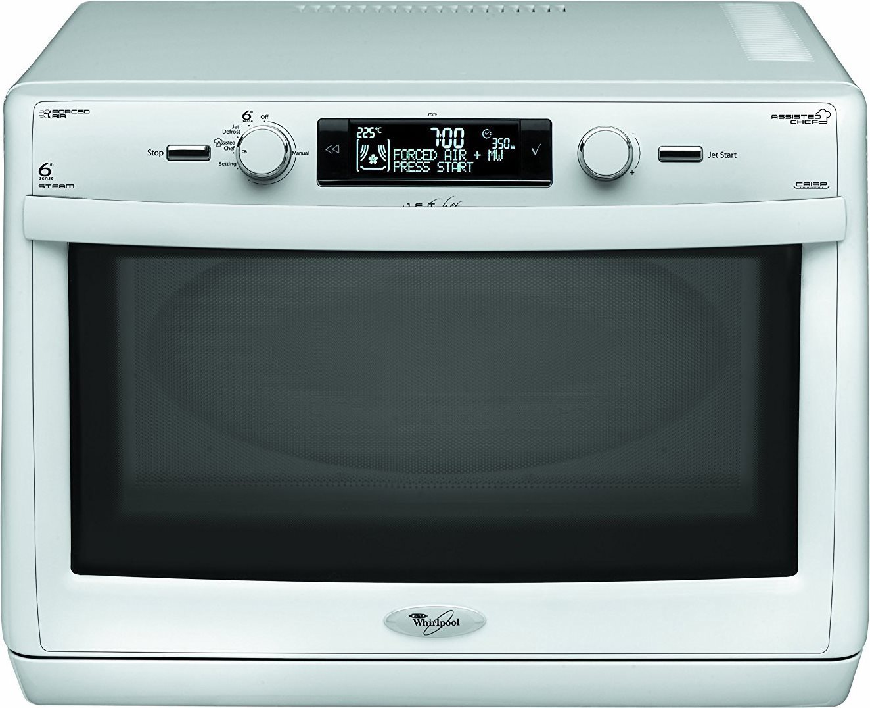 Whirlpool forno a microonde combinato con grill e cottura a vapore capacit 31 litri potenza - Cucinare con microonde whirlpool ...