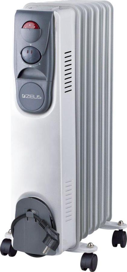 ZEUS Radiatore Termosifone Elettrico ad Olio Stufa Portatile 7 Elementi Potenza 1500 Watt con ...