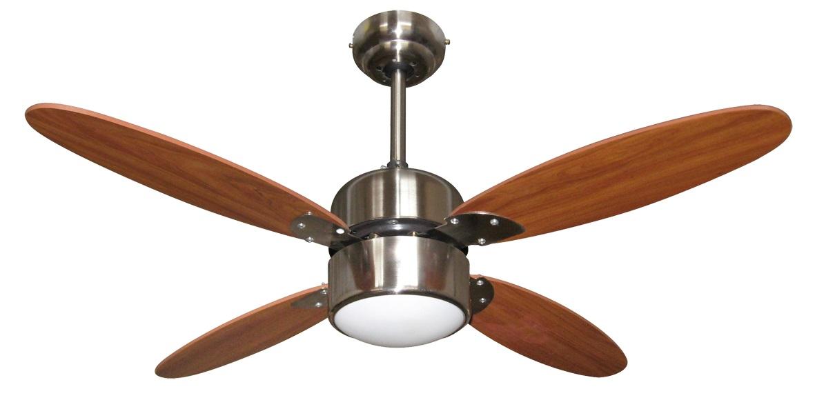 Zephir ventilatore da soffitto con luce 4 pale con for Lampadario a pale brico