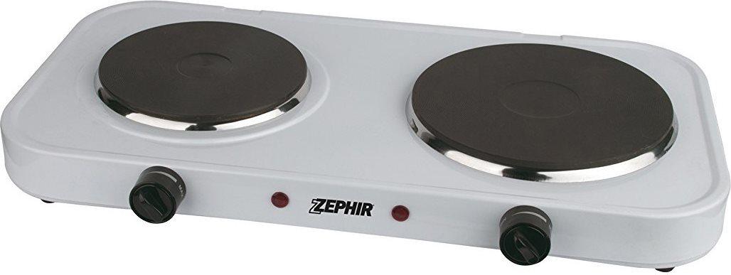 Zephir fornello elettrico doppia piastra 15 18cm bianco for Fornello campeggio elettrico