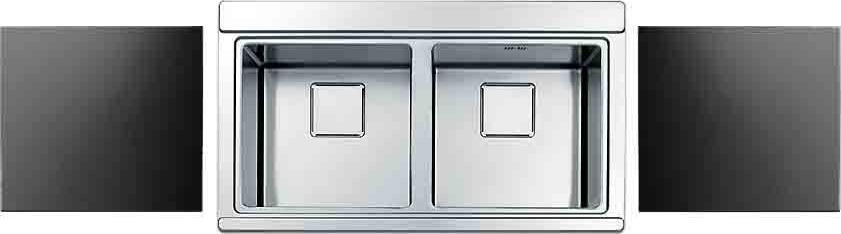 Apell Lavello Cucina Incasso 2 Vasche 90 Cm Acciaio Nero Kaleidos Ka902kitvisc Ebay