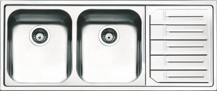 Apell Lavello Cucina Incasso 2 Vasche Gocciolatoio 116cm Acciaio Inox Ml1162irbc Ebay