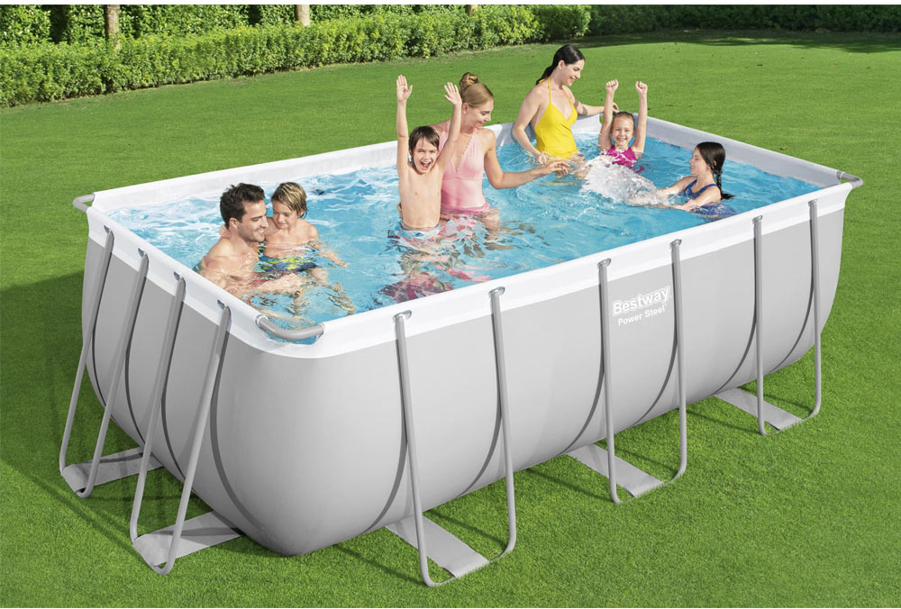Bestway piscina fuoriterra fuori terra rettangolare cm for Best way piscine