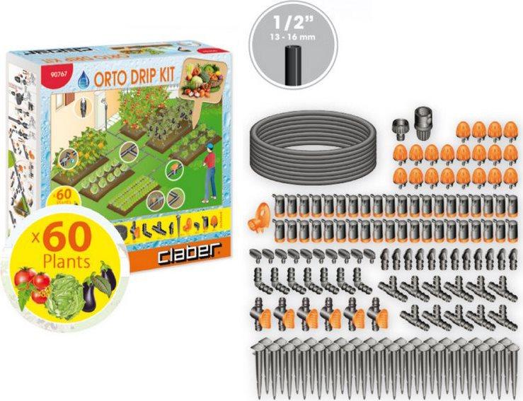 Claber set irrigazione giardino orto per 60 piante orto for Irrigazione orto claber