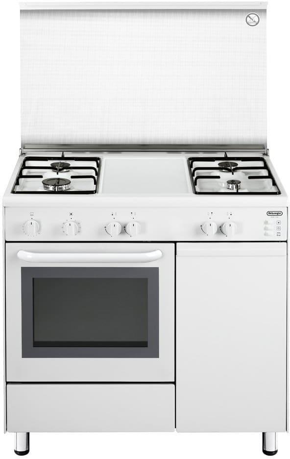 De longhi cucina a gas 4 fuochi forno a gas grill 90x60 cm - Delonghi cucina a gas ...