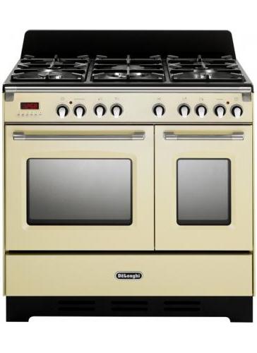 De longhi cucina a gas 5 fuochi forno elettrico ventilato 90x60 cm mem 965t ba ebay - Forno incasso a gas ventilato ...