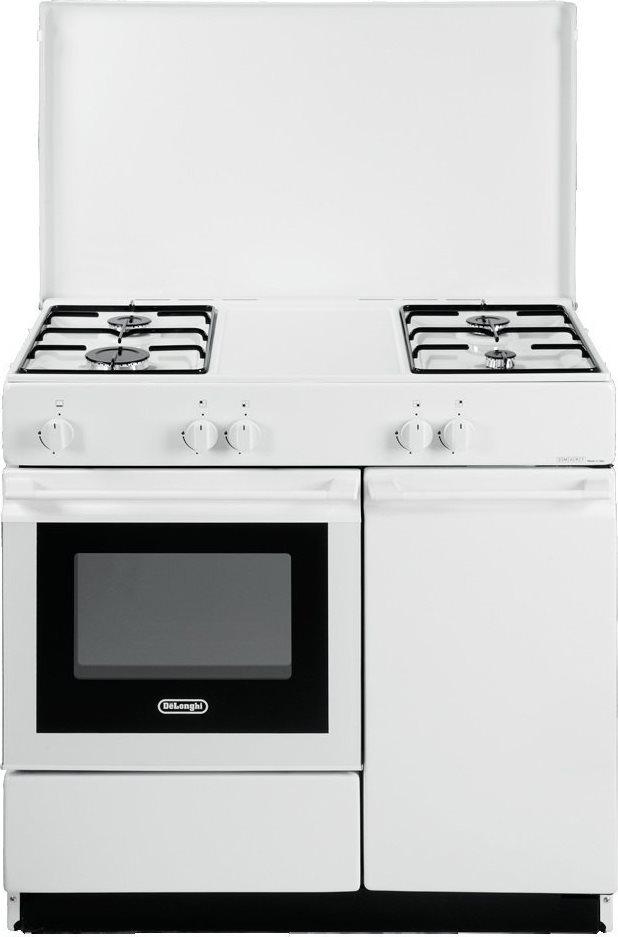 De longhi cucina a gas forno a gas 4 fuochi cm 86x50 - Delonghi cucina a gas ...