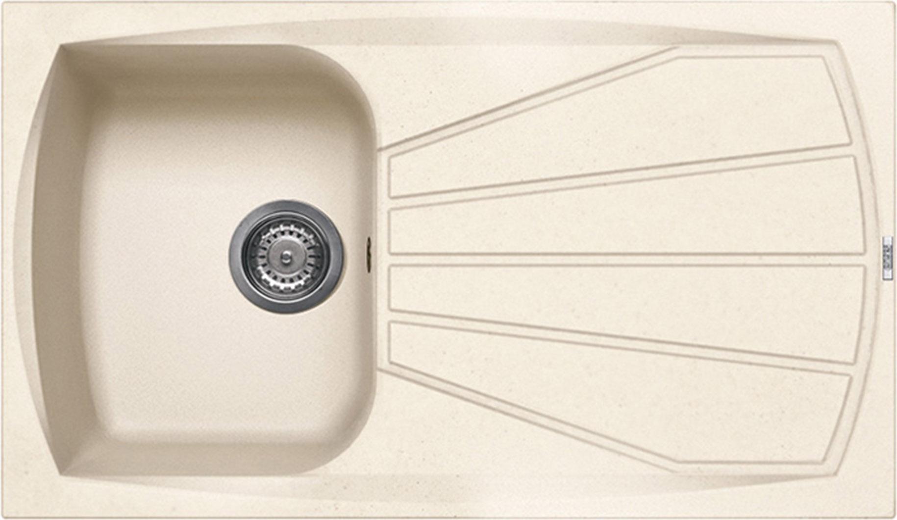 Elleci lavello cucina incasso 1 vasca gocciolatoio 86 cm - Lavandino cucina una vasca ...