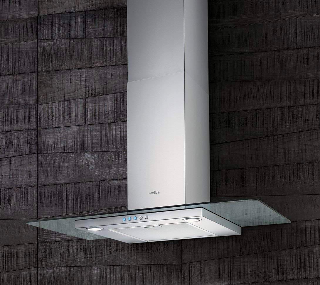 Elica cappa cucina aspirante parete 90 cm x 45 cm acciaio - Cappa cucina acciaio ...