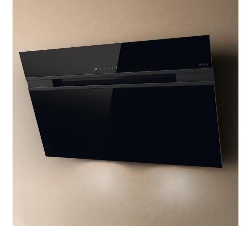 Elica cappa cucina aspirante parete 90 cm x1 4 cm nera - Cappa cucina nera ...