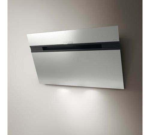 Elica cappa cucina aspirante parete 90 cm x 14 cm acciaio - Cappa cucina acciaio ...