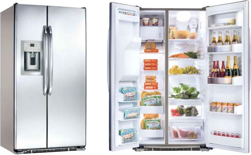 General electric frigorifero americano side by side 648lt for Frigoriferi profondita
