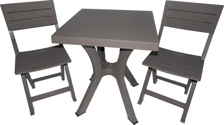 Salotto giardino arredo esterno set tavolo 60x60 sedie for Tavoli pieghevoli da salotto