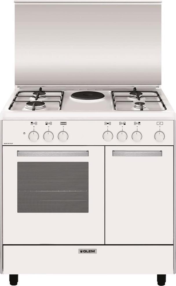 Glem gas cucina a gas 4 fuochi forno elettrico grill 80x50 - Consumo gas cucina ...