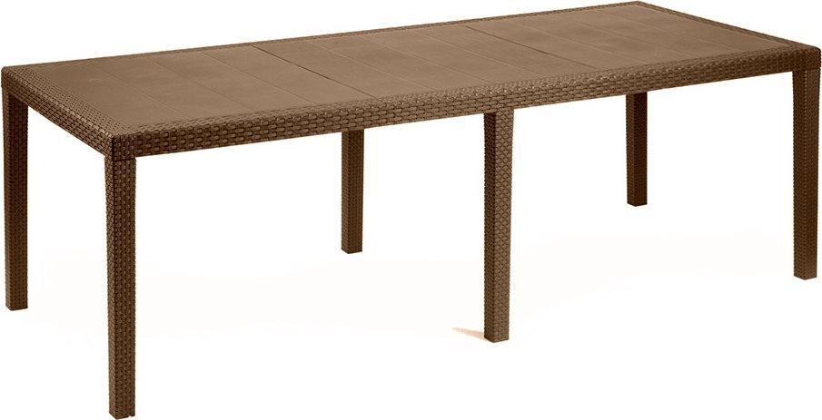 ipae progarden tavolo rattan tavolino giardino allungabile