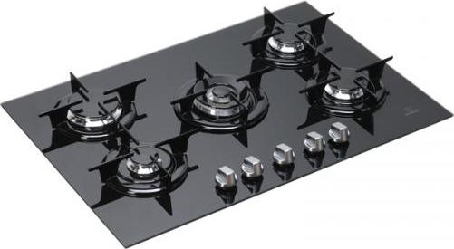 Indesit piano cottura incasso gas 5 fuochi vetro 75 cm for Piano cottura vetroceramica a gas