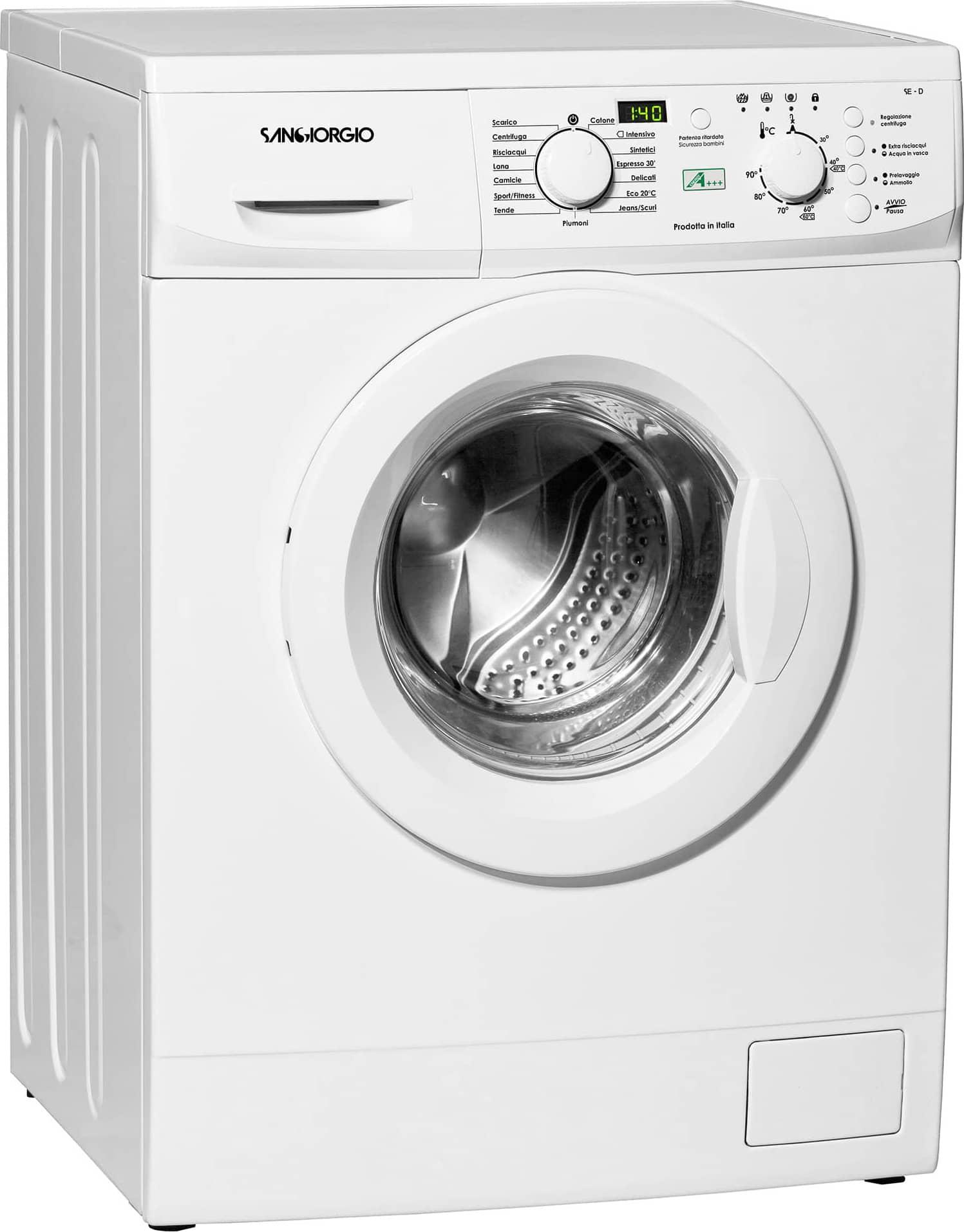 San giorgio lavatrice slim 5 kg classe a 45 cm 1000 giri for Peso lavatrice