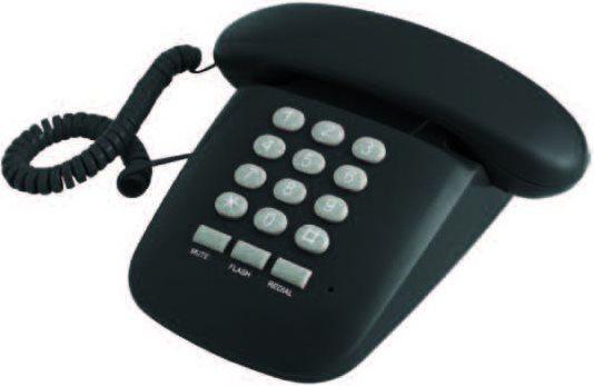 Brondi Telefono fisso a filo Sirio nero