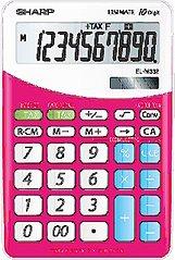 Sharp Calcolatrice da Tavolo 10 Cifre. col. Rosa EL332B pink