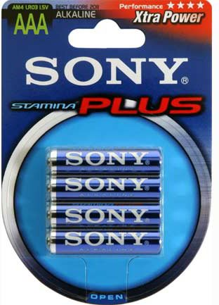 Sony Batterie Alcaline Mini Stilo Stamina Plus Alkaline Batteries Am4B4A