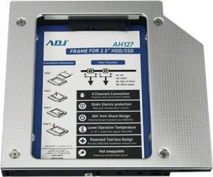 ADJ Frame per 1 HDD  SSD da 2.5 SATA III per Notebook no viti - AH127