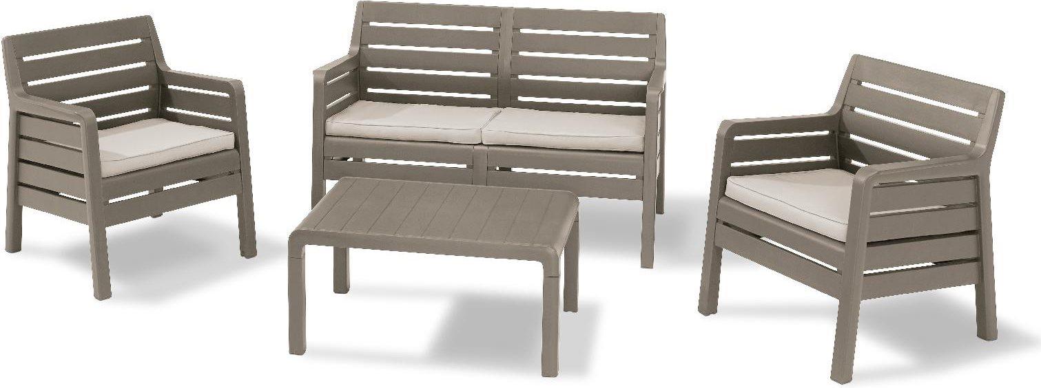 Set da giardino salotto rattan allibert dana offerte - Resina per mobili ...