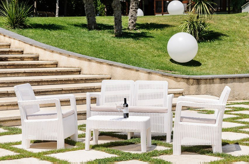 Set da giardino salotto allibert tarifa offerte arredo for Offerte mobili da esterno