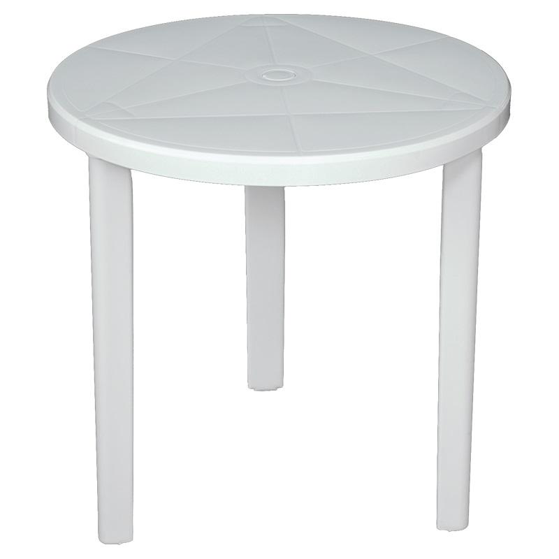 Tavoli Da Giardino Milano.Areta Tavolo Da Giardino In Plastica Tondo O Cm 70x72 H Con Foro Per