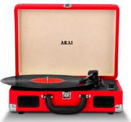 Akai Giradischi 334578 giri Bluetooth AuxRCA Altoparlanti - R45 Vintage
