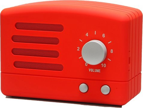 Akai R50BTRED Cassa Bluetooth Speaker Wireless Altoparlante Portatile USB  Retro