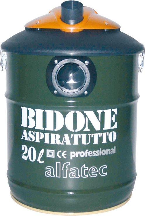 Bidone Aspiratutto Professionale Aspirapolvere senza Sacco Capacità 20 Litri Potenza 1300 Watt Funzione Soffiatore con Ruote colore Verde A54.2