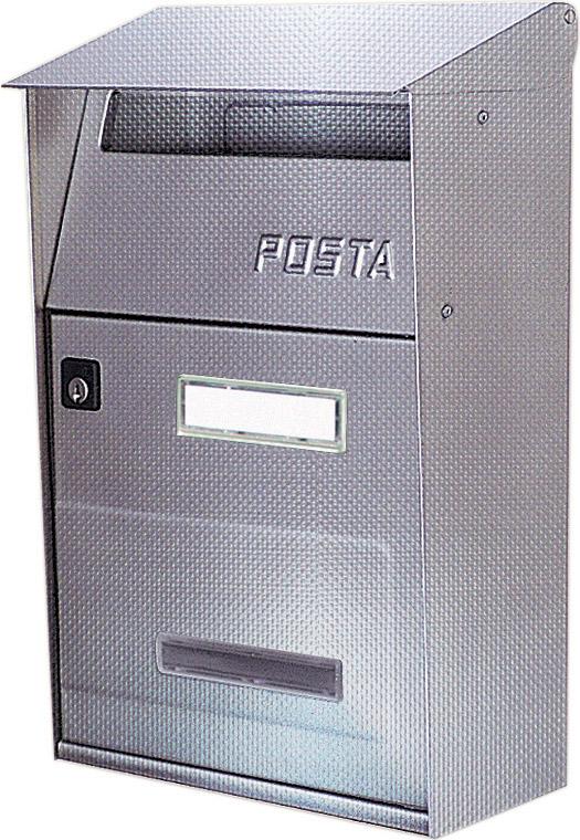 ALUBOX Cassetta Postale in Acciao Inox dimensioni 22x11x32 colore Grigio Ghisa - FTV