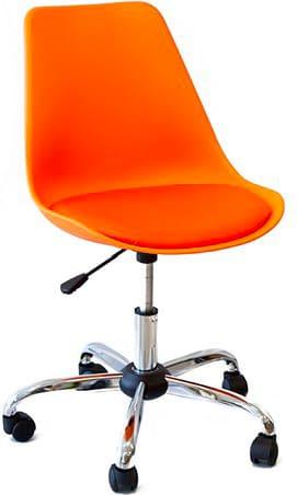 Sedie Da Ufficio Arancione.Amicasa Sedia Ufficio Poltrona In Plastica Girevole Con Ruote
