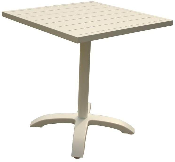 Tavoli Da Giardino In Alluminio.Amicasa Tavolo Da Giardino In Alluminio 70x70 Cm Colore Bianco Aria