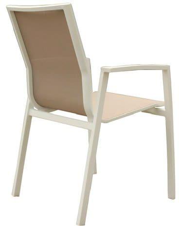 Sedie Da Giardino Bianche.Amicasa Sedia Da Esterni In Alluminio E Tessuto 59x57x88h Cm Sedia