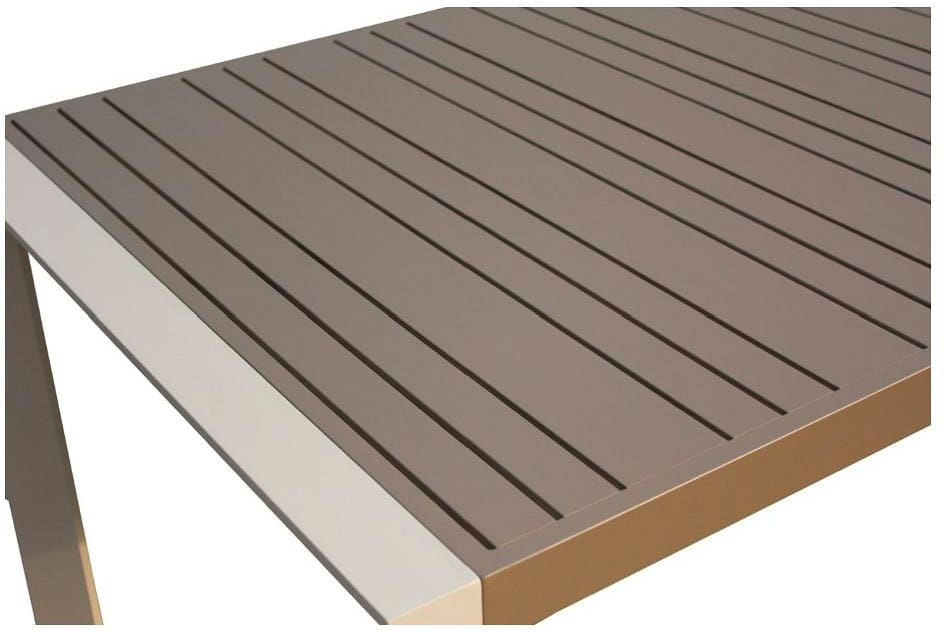 Tavolo In Alluminio Per Esterno.Amicasa Tavolo Da Giardino Alluminio Dimensione 180x100 Cm Piano