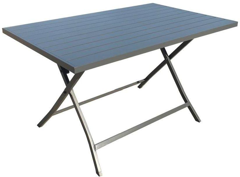 Tavoli Alluminio Pieghevoli Usati.Amicasa Tavolo Pieghevole Da Giardino Tavolino In Alluminio