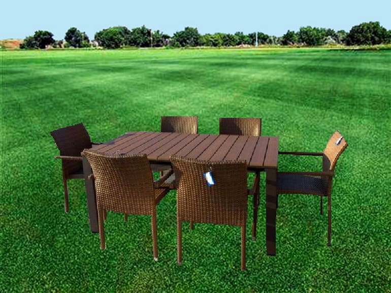 Tavoli E Sedie Per Giardino.Amicasa Tavolo E Sedie Da Giardino Tavolo Allungabile 160 200 240 Cm
